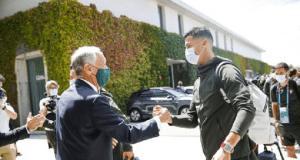 Marcelo Rebelo de Sousa e Cristiano Ronaldo